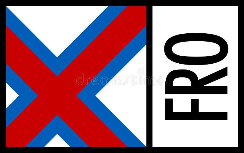 Feroé wysp flaga - ikona obraz stock