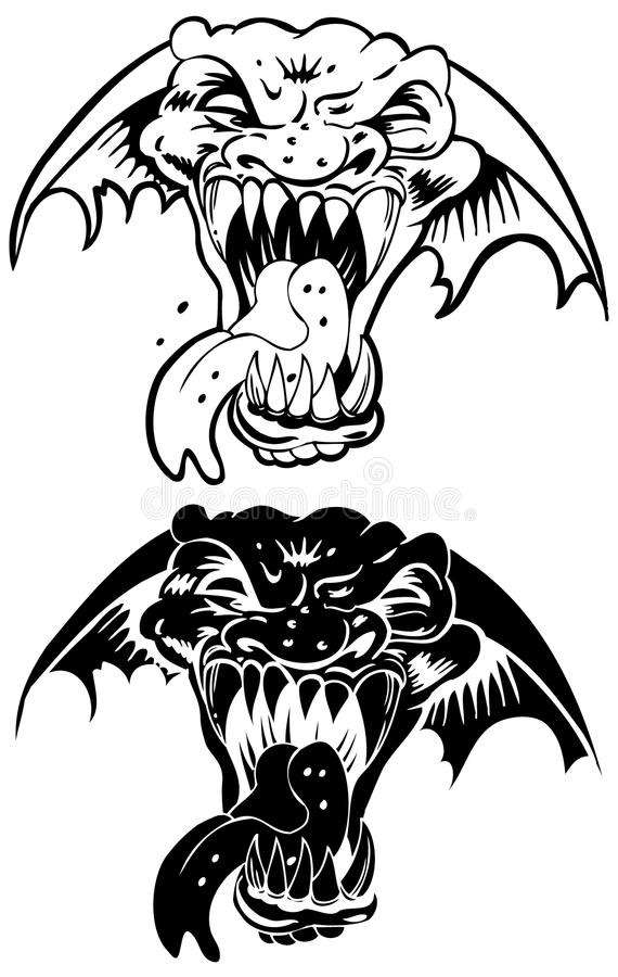 Download Ferocious Beast stock vector. Image of fangs, face, evil - 9478711