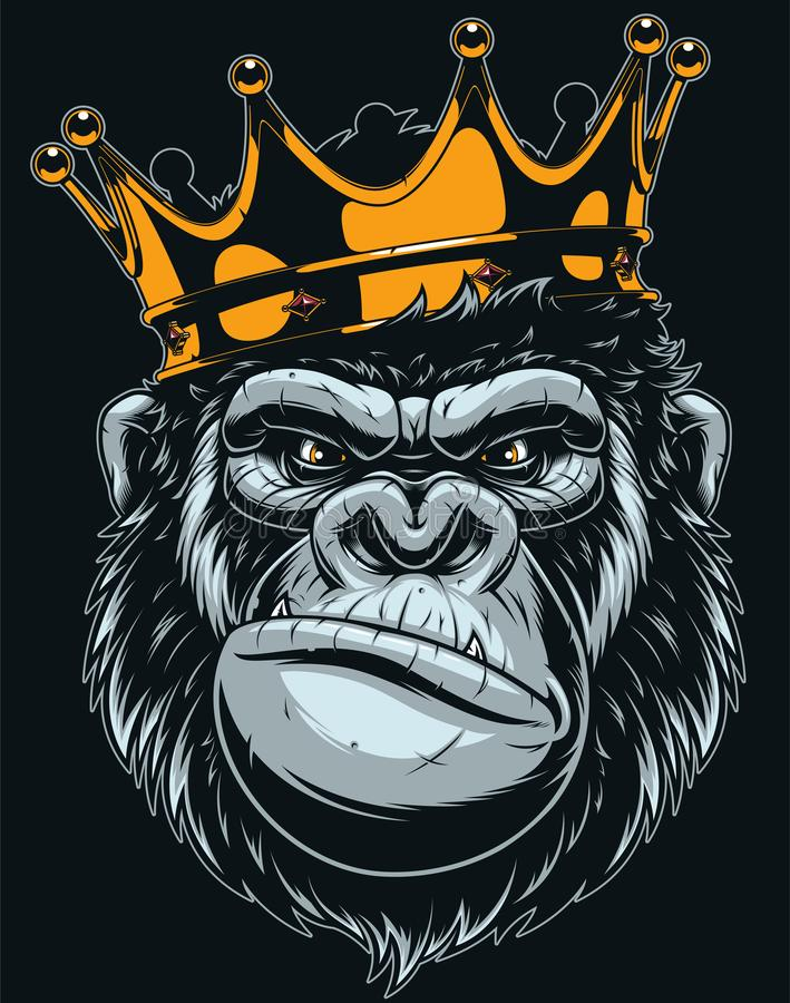 Free Ferocious Gorilla Head Royalty Free Stock Photo - 128022825