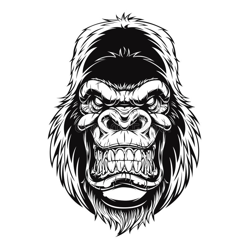 Free Ferocious Gorilla New Version In Black Color Royalty Free Stock Photography - 220319647