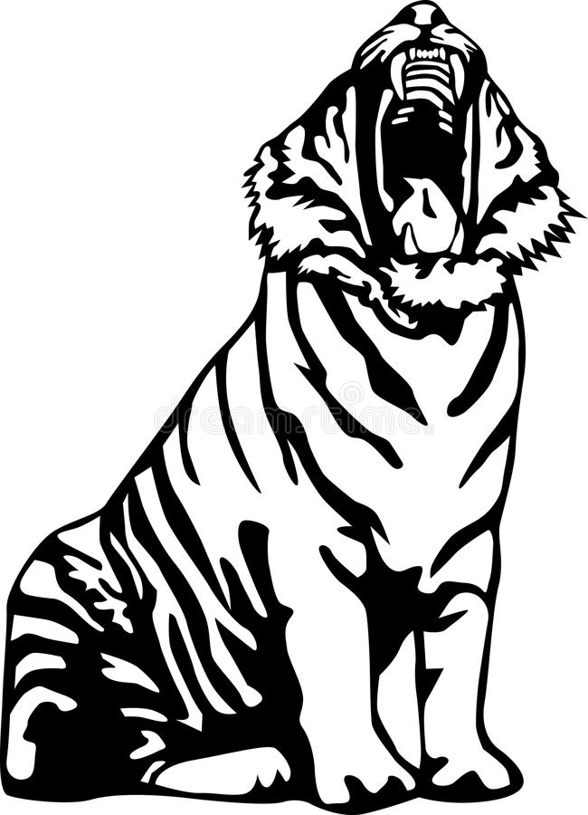Download Ferocious tiger stock vector. Illustration of animal - 16005998