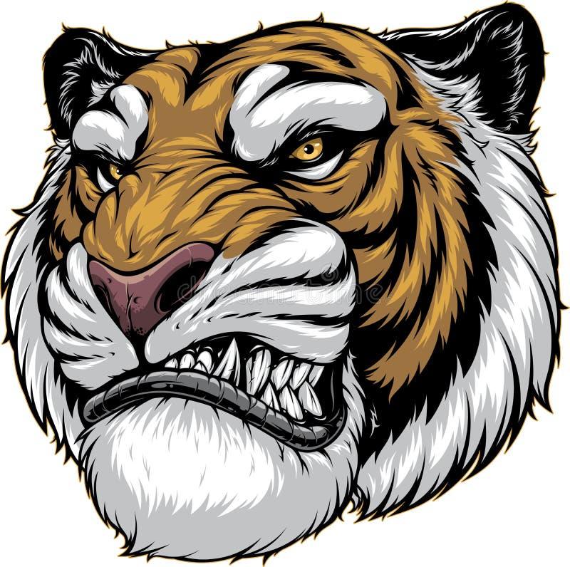Ferocious tiger roars royalty free stock photos