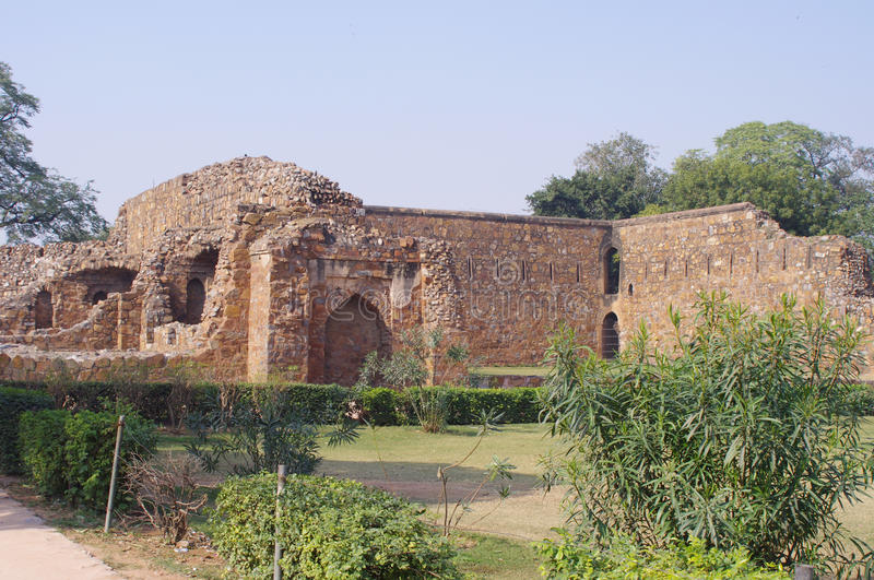 Feroz Shah Kotla, New Delhi stock photo
