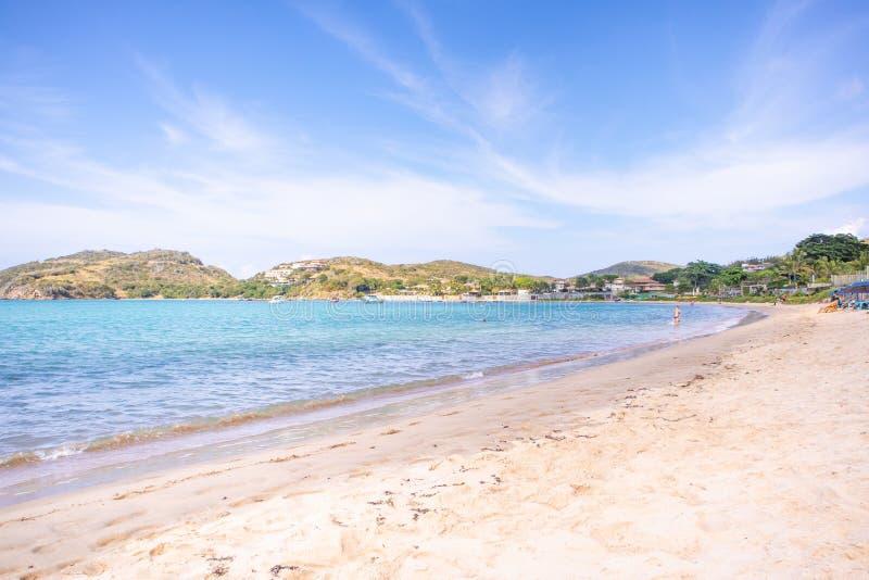 Ferradura海滩在Buzios 库存照片