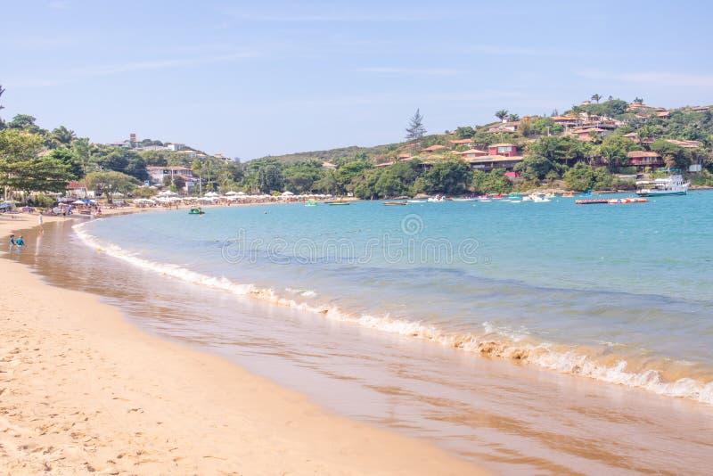 Ferradura海滩在Buzios 免版税图库摄影