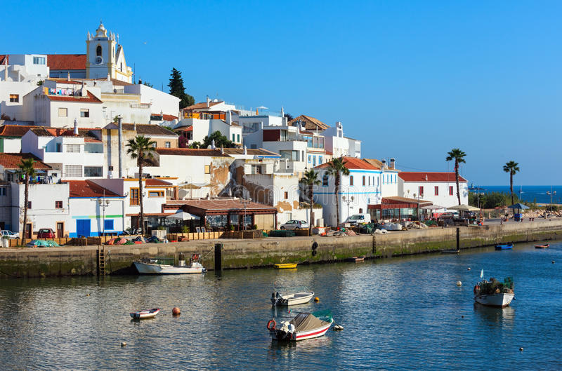Ferragudo渔村,阿尔加威,葡萄牙 库存图片