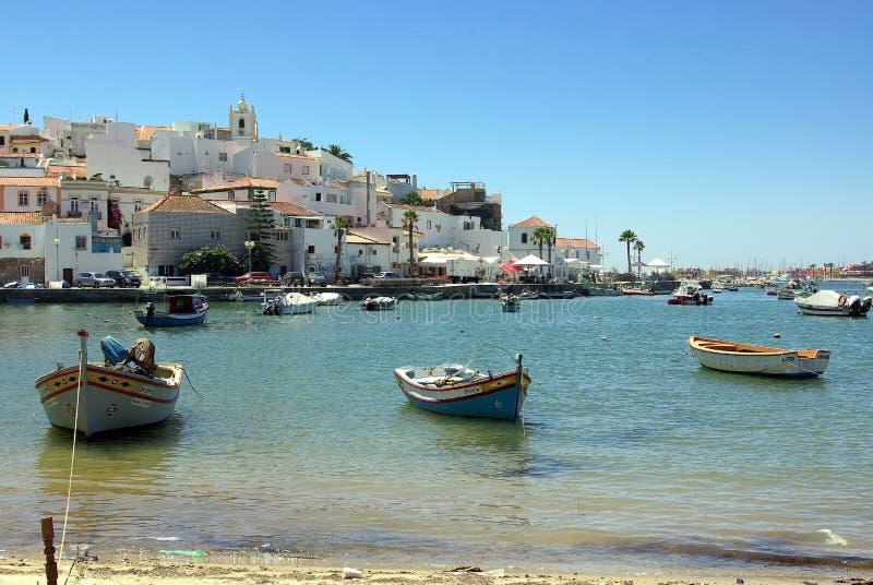 Ferragudo, Portugal en Algarve imagen de archivo