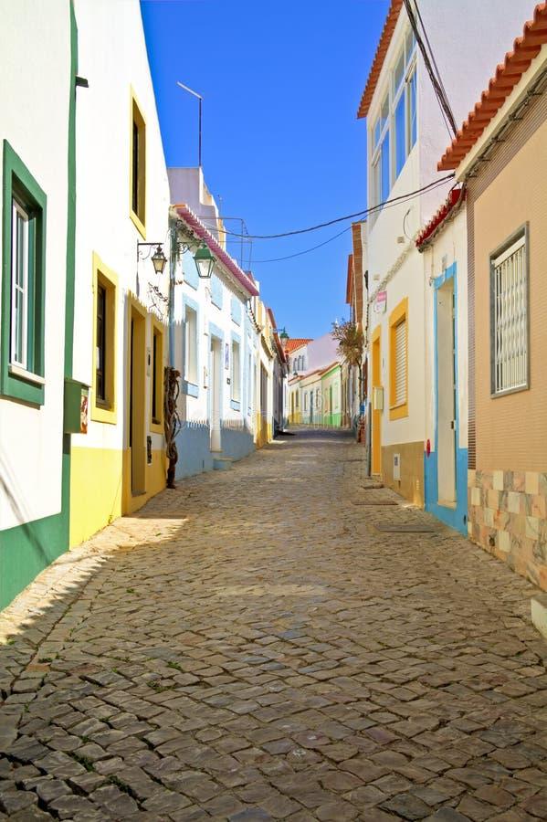 ferragudo Portugal scenerii ulica fotografia royalty free