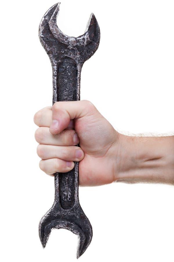 Ferramenta da chave do metal à disposicão imagens de stock