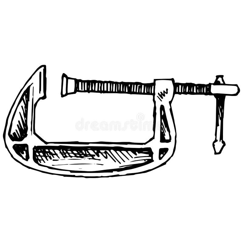 Ferramenta da compressão da braçadeira ilustração royalty free
