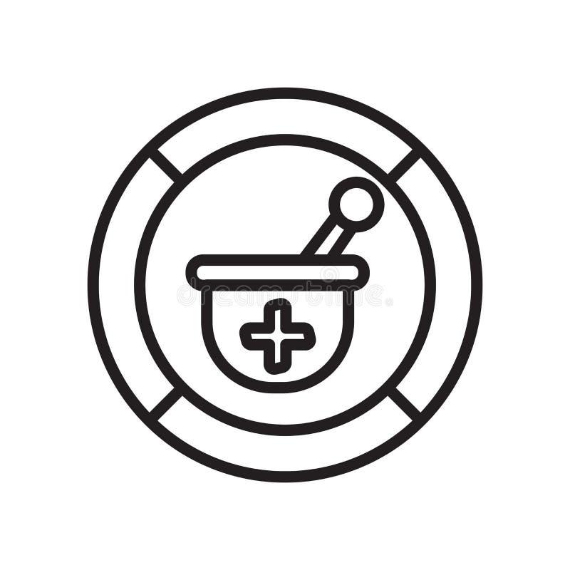 A ferramenta da farmácia mais assina dentro o sinal quadrado do vetor do ícone e o símbolo isolado no fundo branco, ferramenta da ilustração stock