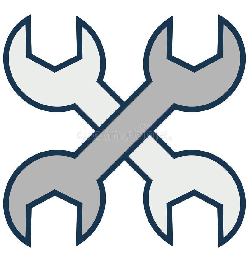 A ferramenta da garagem, mecânico Isolated Vetora Icon pode facilmente ser alterada ou editado ilustração stock