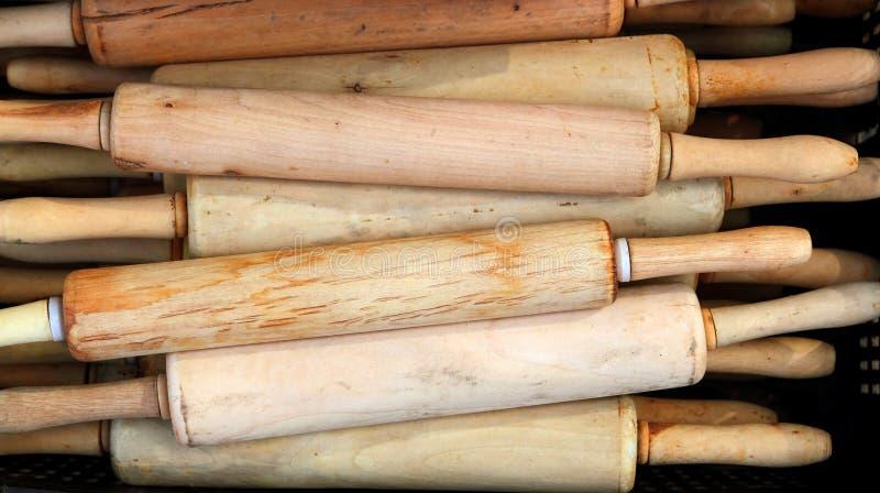 Ferramenta da massa de pão da padaria da cozinha do pino do rolo do gourmet imagem de stock