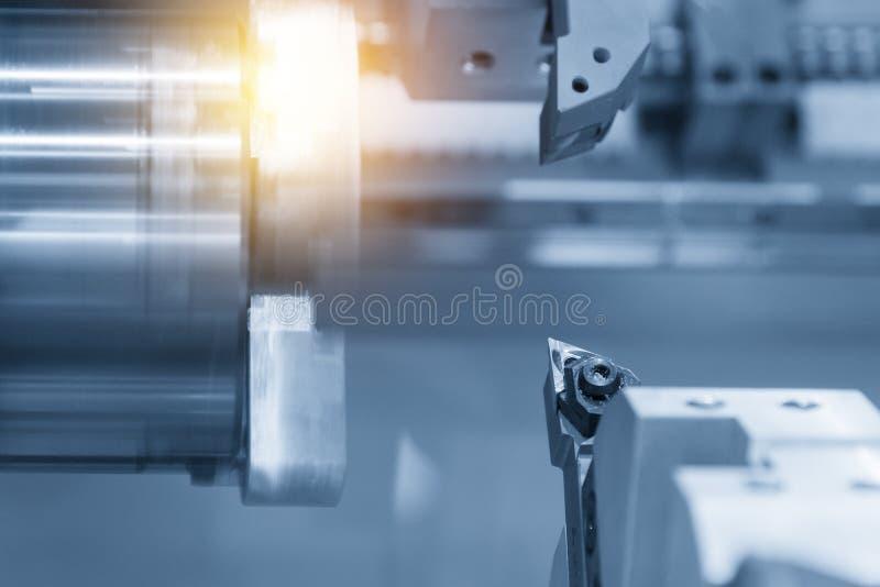 Ferramenta de corte do torno do CNC fotografia de stock
