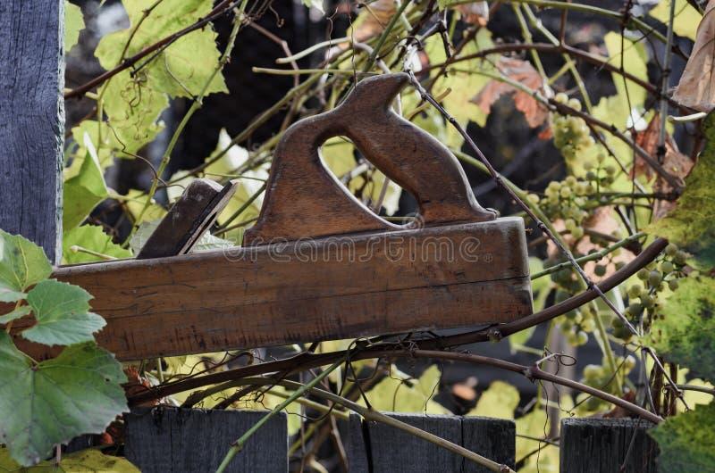 Ferramenta de madeira - tentar-plano foto de stock