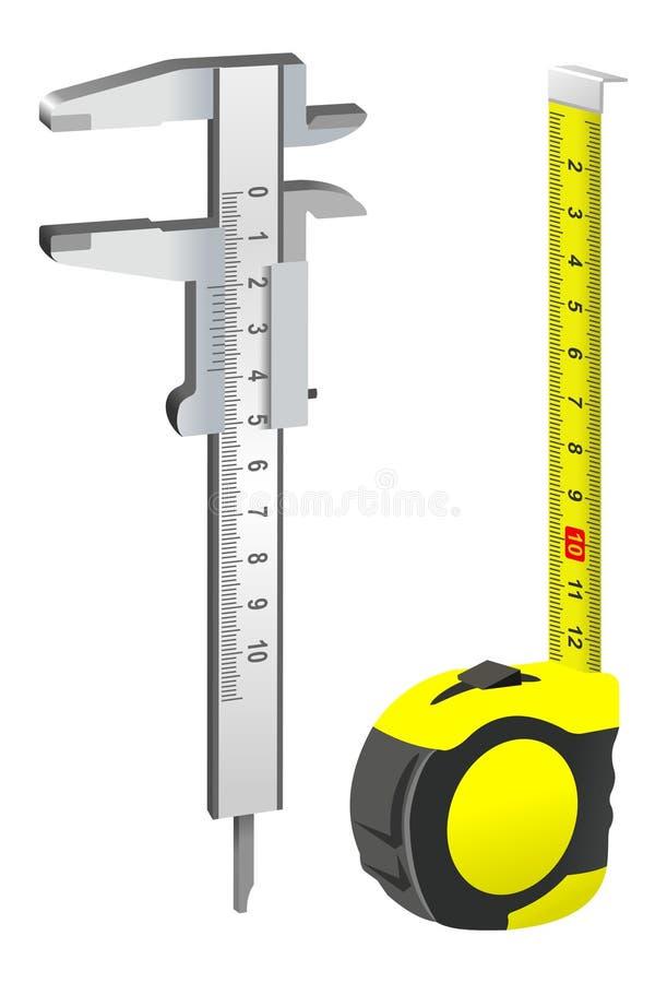 Ferramenta de medição ilustração stock