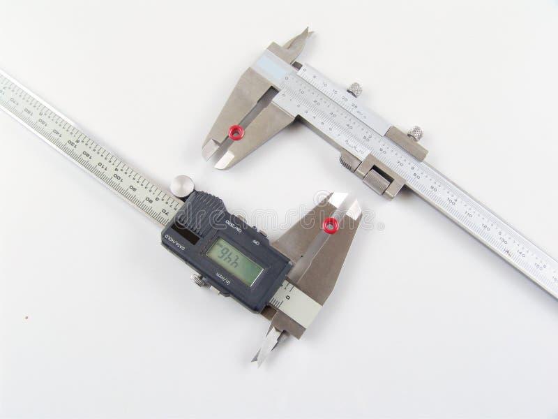 Ferramenta de medição da precisão fotografia de stock