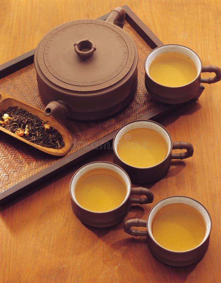 Ferramenta do chá da bebida da porcelana fotos de stock