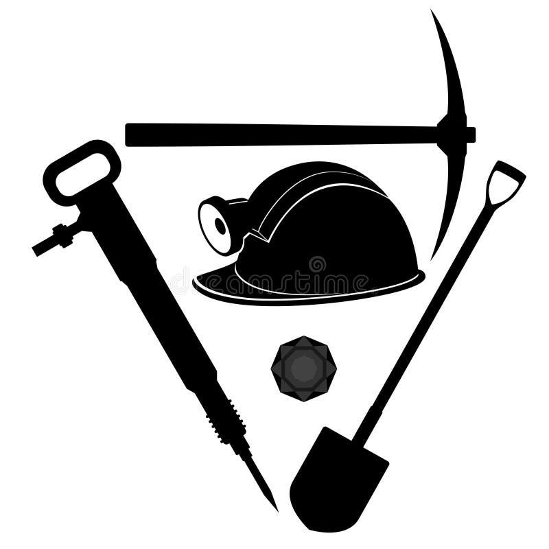 Ferramenta do mineiro ilustração royalty free