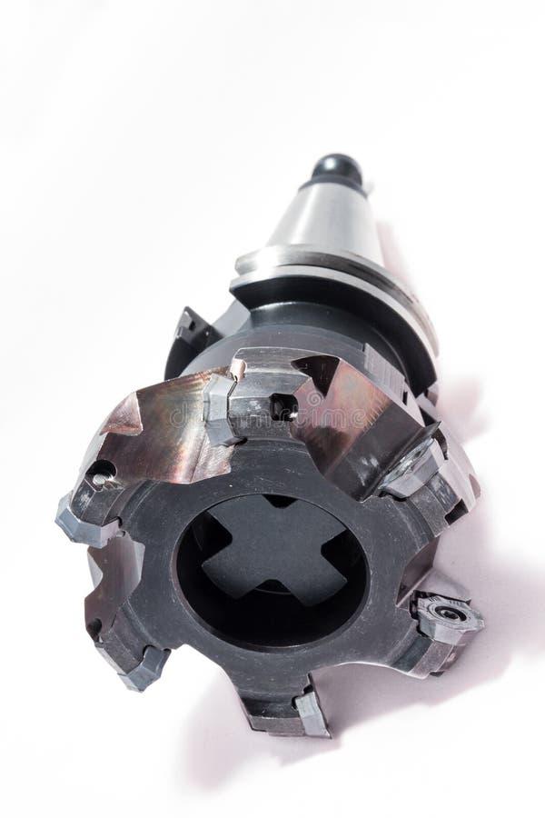Ferramenta/equipamento de trituração com o suporte para a máquina do CNC foto de stock royalty free