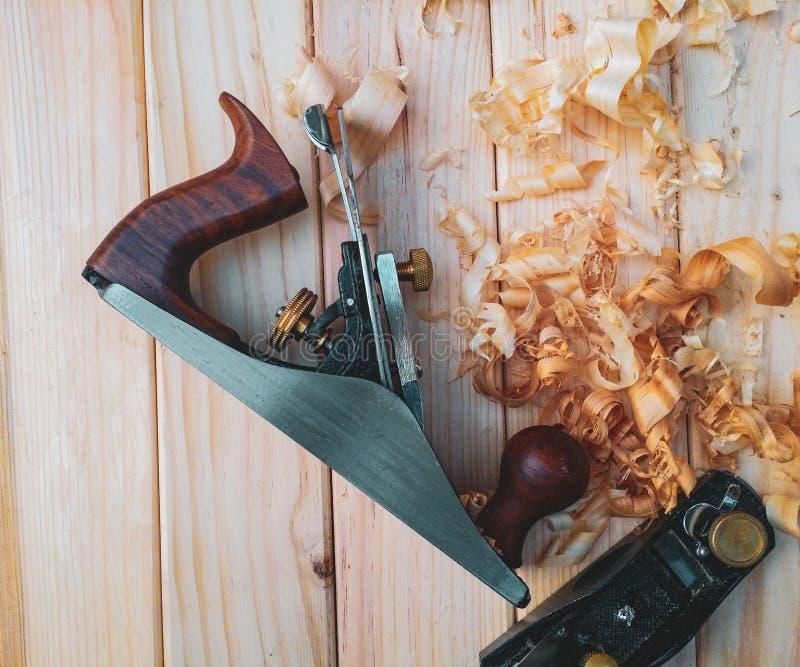 Ferramenta mais plana de madeira manual velha imagem de stock royalty free