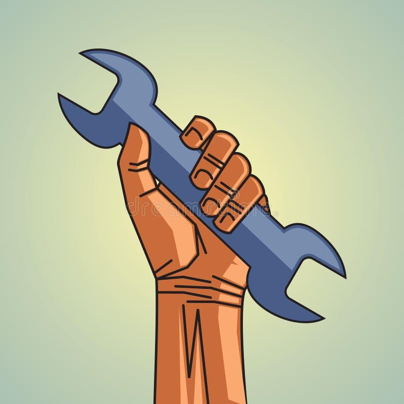 Ferramenta mecânica ilustração do vetor