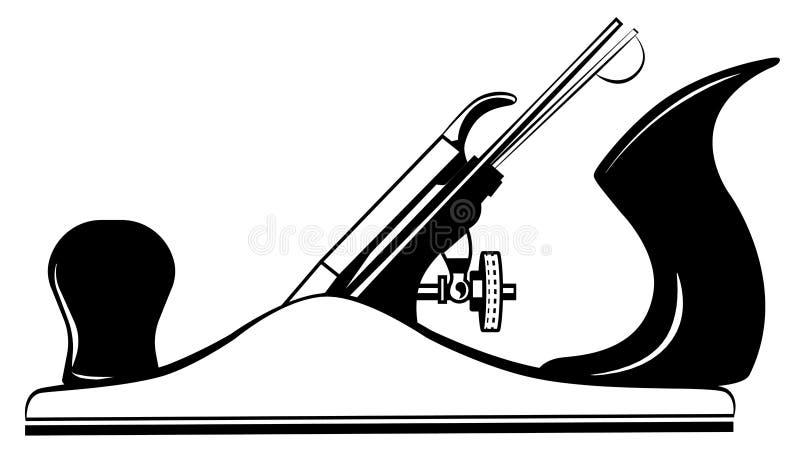 Ferramenta para o plano de madeira, jointer, vetor do jaque-plano ilustração royalty free