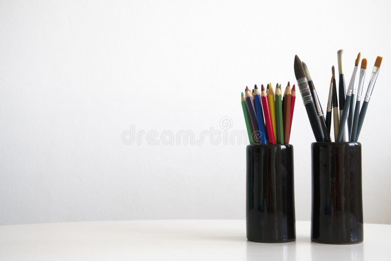 Ferramentas art?sticas foto de stock royalty free