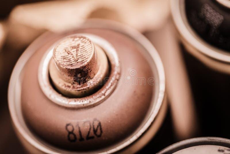 Ferramentas da arte do aerossol fotos de stock