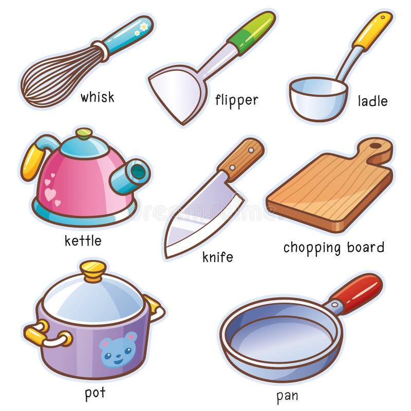 Ferramentas da cozinha ilustração stock