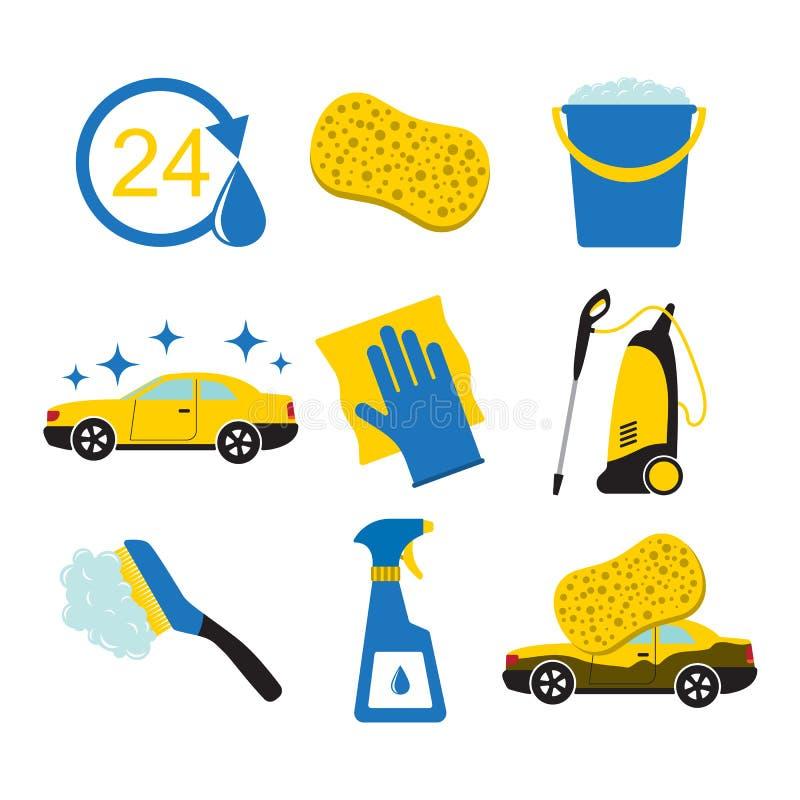 Ferramentas da lavagem de carros ilustração stock