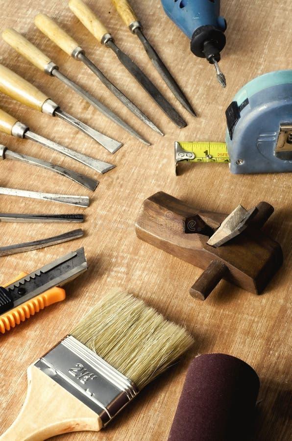 Ferramentas de funcionamento de madeira 03 fotos de stock