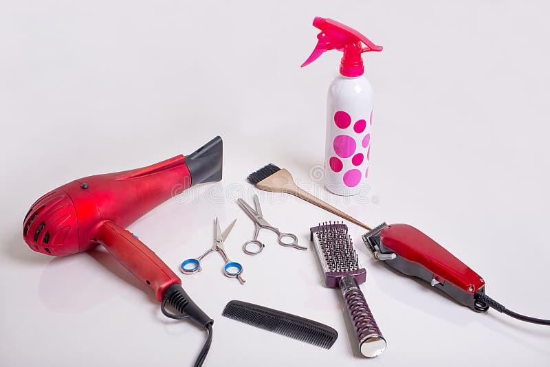Ferramentas de Hairstyling fotos de stock royalty free