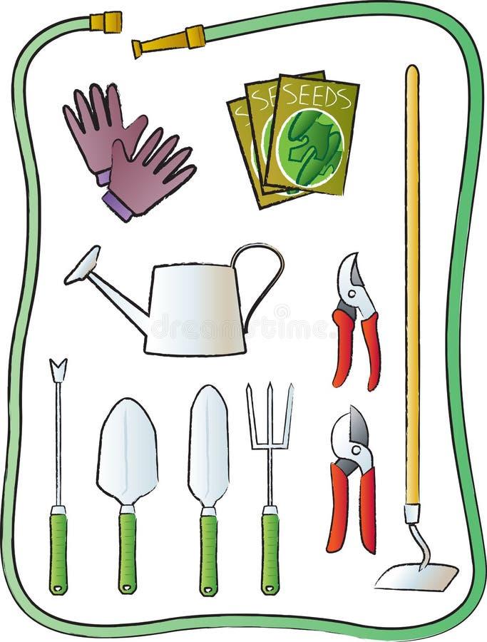 Ferramentas de jardinagem ilustração do vetor