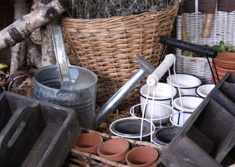 Ferramentas de jardinagem fotografia de stock