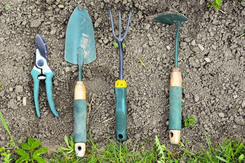 Ferramentas de jardinagem fotografia de stock royalty free