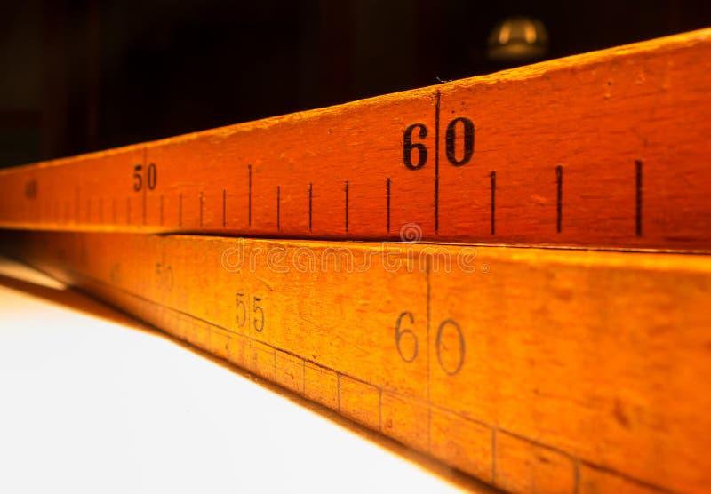 Ferramentas de medição típicas usadas no alfaiate imagem de stock royalty free