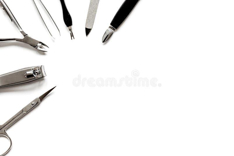 Download Ferramentas De Um Grupo De Tratamento De Mãos Na Opinião Superior Do Fundo Branco Imagem de Stock - Imagem de saudável, cuidado: 80102427