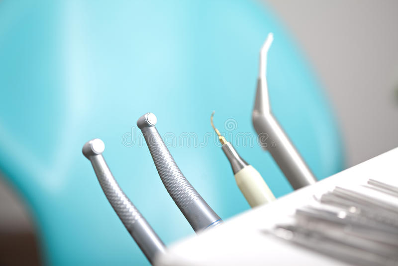 Ferramentas dentais imagem de stock