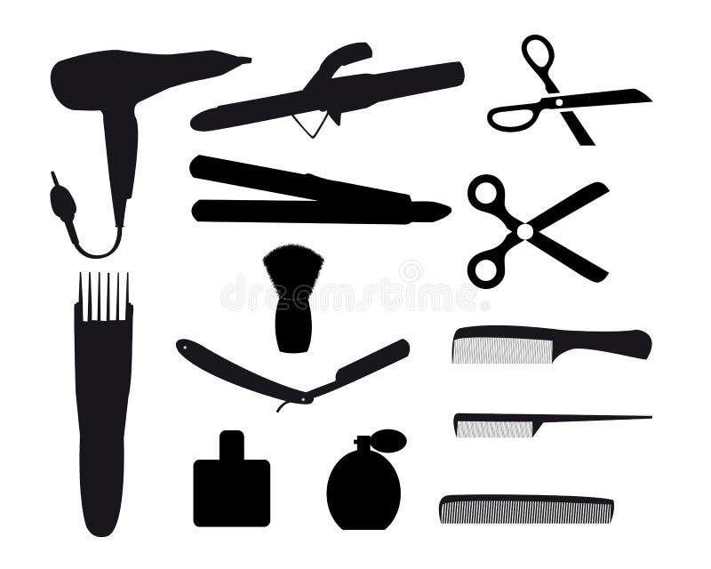 Ferramentas do barbeiro ilustração royalty free