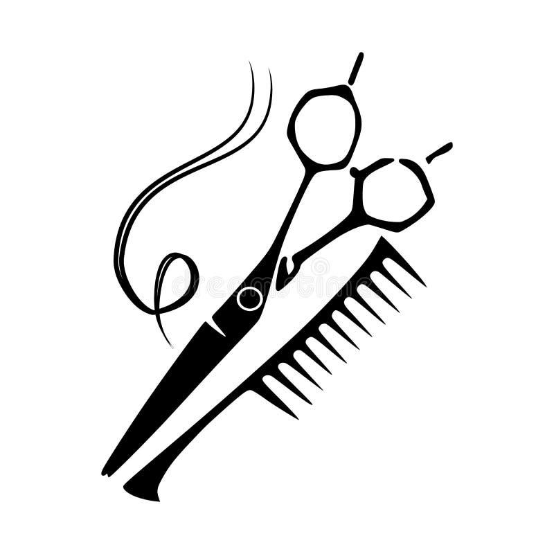 Ferramentas do cabeleireiro novas ilustração stock