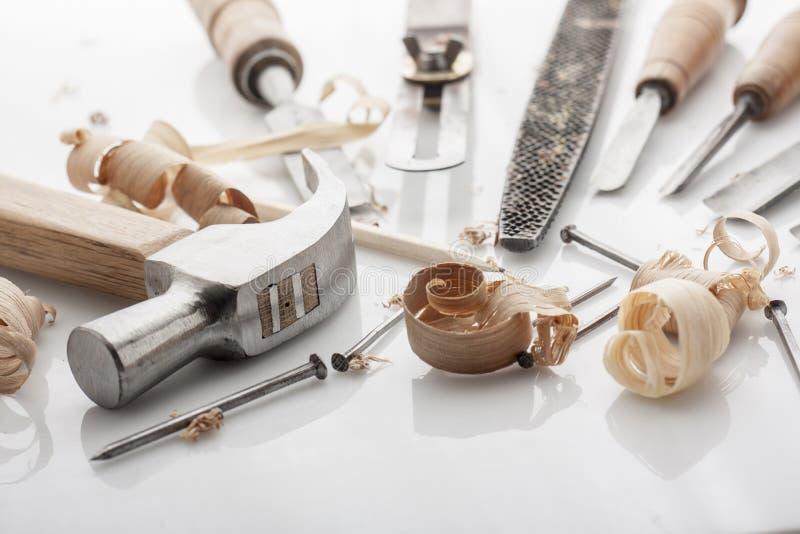 ferramentas do carpinteiro imagens de stock royalty free