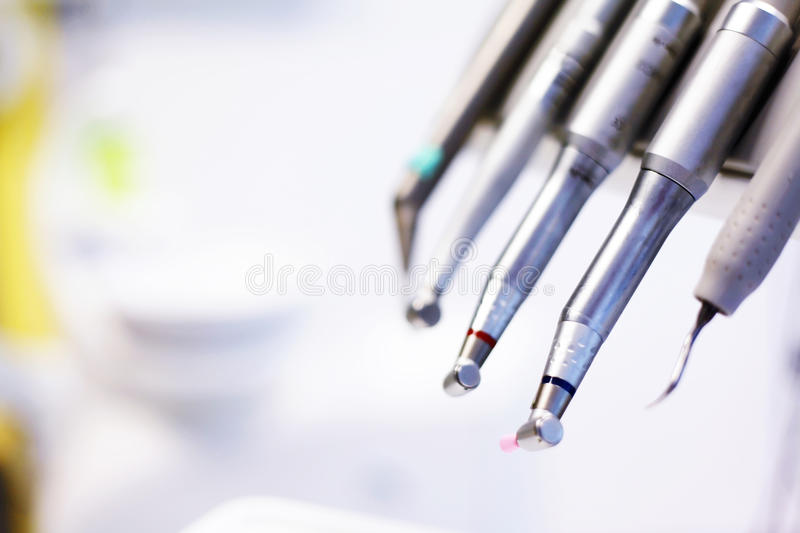 Ferramentas do dentista fotografia de stock royalty free