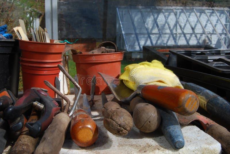 Ferramentas do equipamento de jardinagem fotos de stock royalty free