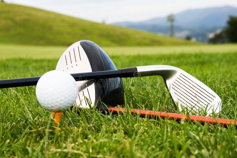 Ferramentas do esporte do golfe fotografia de stock