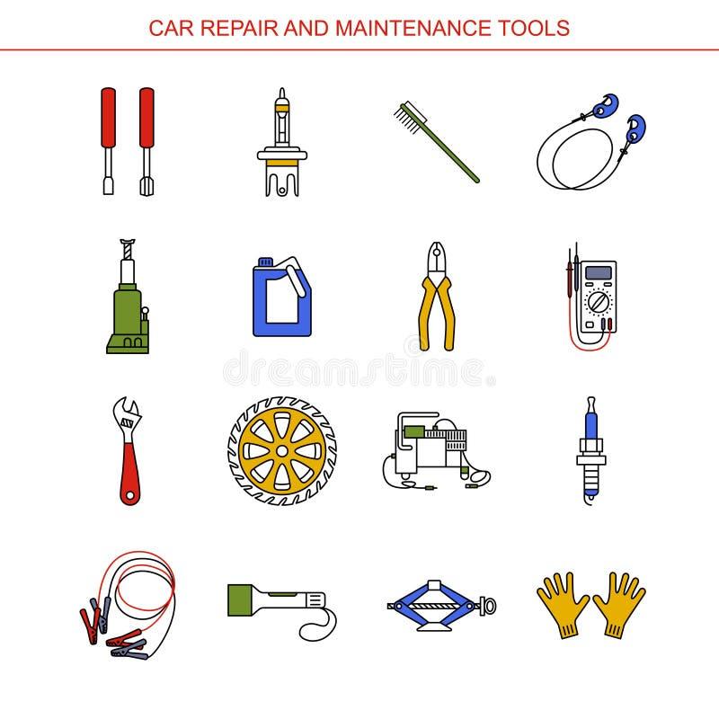 Ferramentas do reparo e da manutenção do carro fotografia de stock