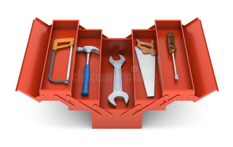 Ferramentas na caixa de ferramentas ilustração royalty free