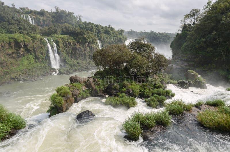 Ferramentas para a cachoeira Iguacuwalls fotos de stock royalty free