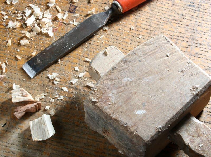 Ferramentas velhas da obra de carpintaria imagem de stock