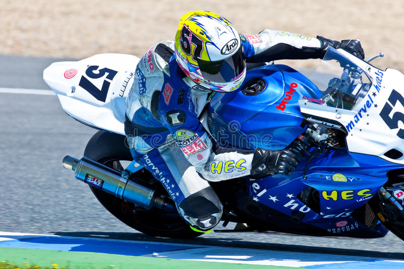 Ferran Casas pilot of Stock Extreme of the CEV Championship stock images